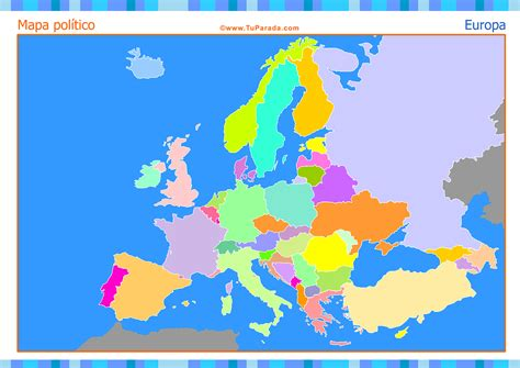 Mapa de Europa para completar - Mapas, tarjetas