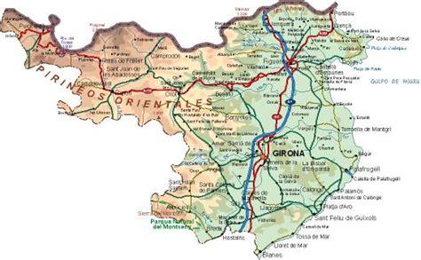 Mapa de Girona   Mapa Físico, Geográfico, Político ...