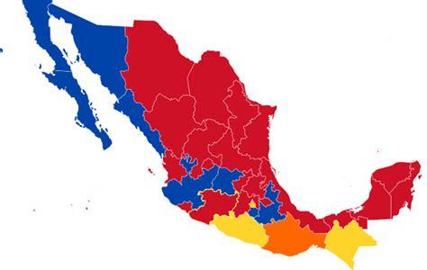 Mapa de Gobiernos por Estado - Elección 2012 México ...
