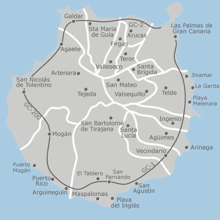 Mapa de Gran Canaria, Las Palmas — idealista | ISLAS ...
