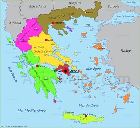 Mapa de Grecia - AnnaMapa.com