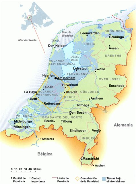 Mapa de holanda | Sababa.nl