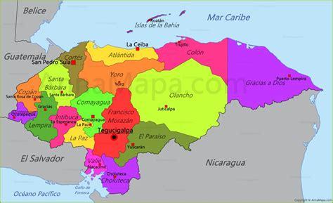 Mapa De Honduras   threeblindants.com
