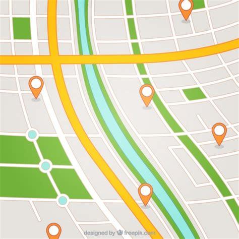 Mapa de la calle con los punteros | Descargar Vectores gratis