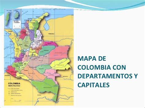 Mapa de la division politica de colombia departamentos y ...