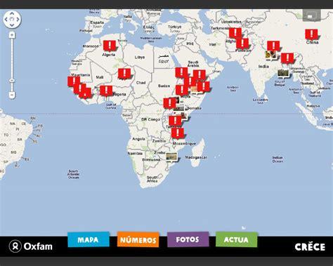 Mapa de la Fam al món