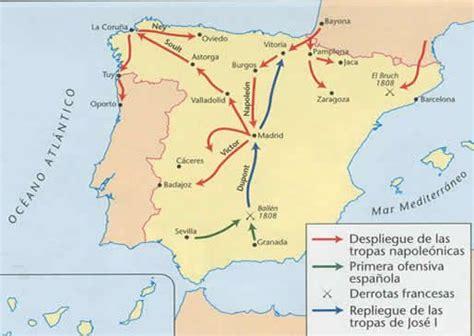 Mapa de la invasión napoleónica en España. | Maps ...