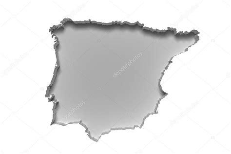 mapa de la Península Ibérica — Foto de stock © erllre ...