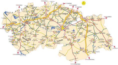 Mapa de la Provincia de Toledo   Tamaño completo