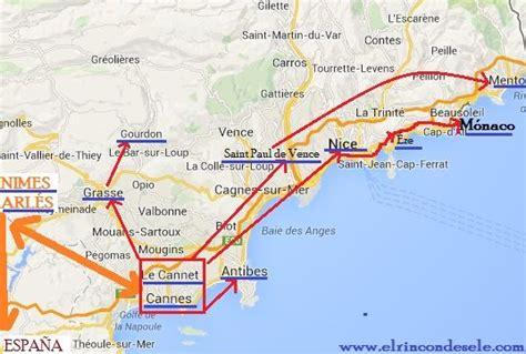 Mapa de la ruta en Provenza y Costa Azul (Francia) … | Viajes