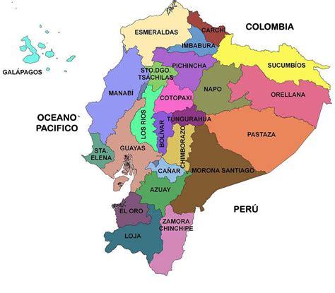 Mapa de las Provincias de Ecuador | Ecuador Noticias ...