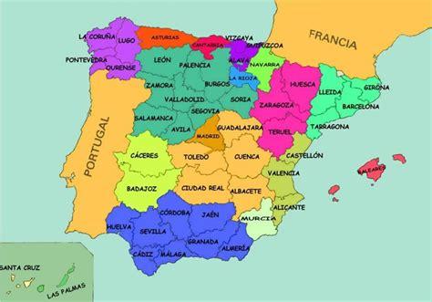 Mapa de las Provincias de España - Turismo por España