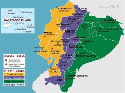 Mapa De Las Regiones Naturales Del Ecuador