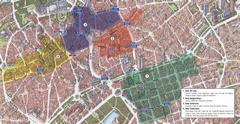 Mapa de las zonas comerciales de Madrid   Infohostal