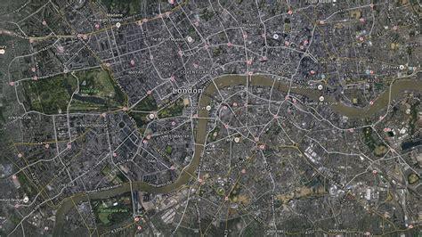 Mapa de Londres vía satélite