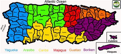 Mapa de los 78 pueblos de puerto rico