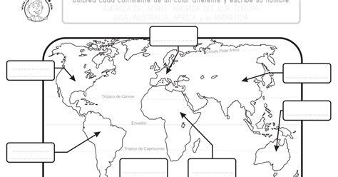Mapa de los Continentes para Imprimir   Mapa Mundi PDF ...