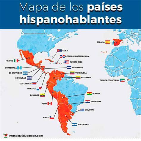 Mapa de los países hispanohablantes • Spanish Speaking ...