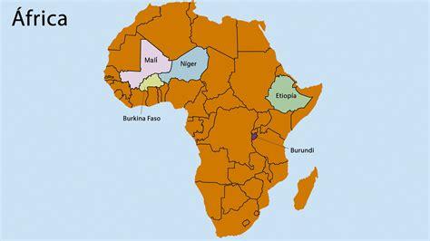 Mapa de los países más pobres de África