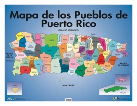 Mapa de los pueblos de Puerto Rico | Geografía | Geography ...