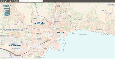 Mapa De Malaga Capital | threeblindants.com
