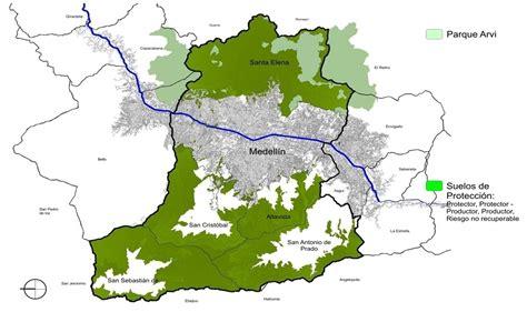 Mapa de Medellín - Mapa Físico, Geográfico, Político ...
