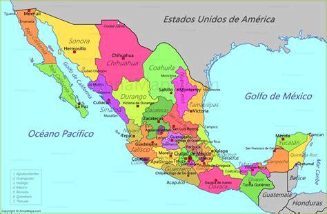 Mapa de México - AnnaMapa.com