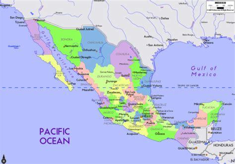 Mapa de México con nombres, capitales y estados   Imágenes ...
