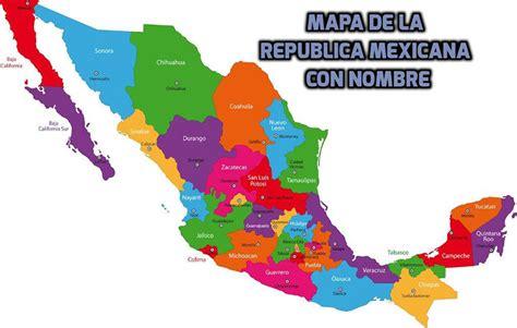 Mapa de México con nombres | Dependiendo