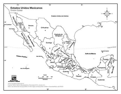 Mapa de México con nombres y división politica | Imágenes ...