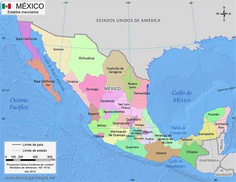 Mapa de México dividido por estados | DESCARGAR MAPAS