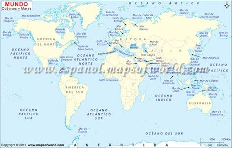 Mapa de Mundo Marino | Oceanos del Mundo