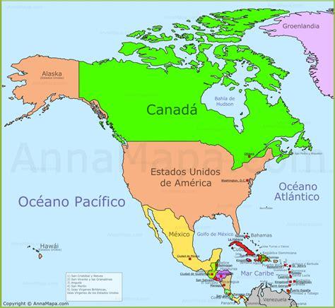 Mapa de Norteamérica | Mapa Politico de Norteamérica ...