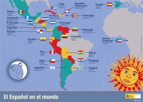 mapa de paises donde se habla español como lengua oficial ...