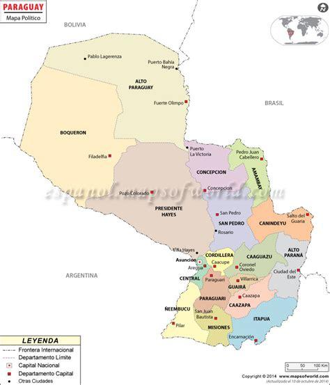 Mapa de Paraguay | Paraguay Mapa