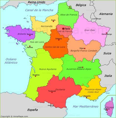 Mapa de Político de Francia - AnnaMapa.com