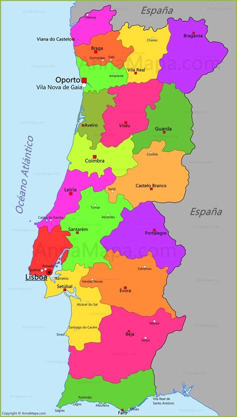 Mapa de Portugal - AnnaMapa.com