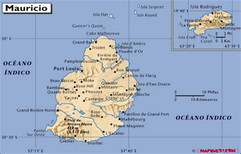 Mapa de República de Mauricio