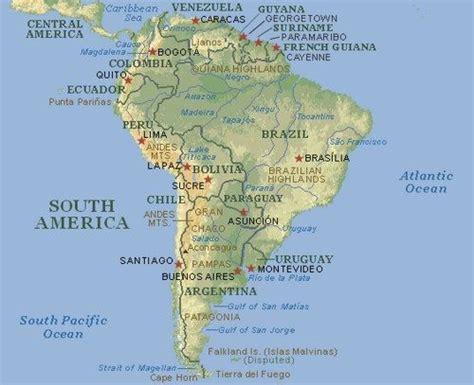 Mapa de Sudamérica Completo: Mapa Político y Físico de ...