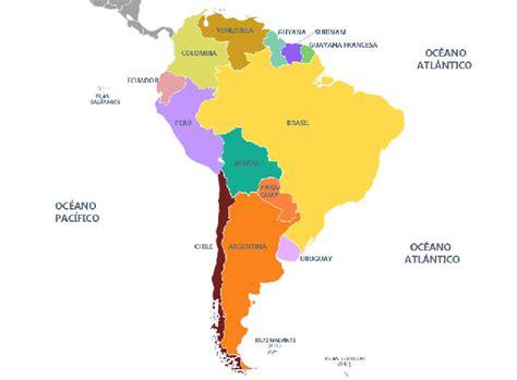Mapa de sudamerica con nombres - Imagui