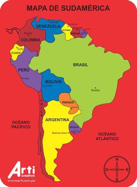 Mapa De Sudamerica | threeblindants.com
