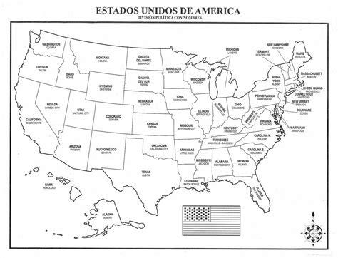 Mapa De USA | Mapa de los Estados Unidos de América con ...