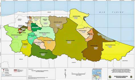 Mapa del Estado Miranda con todos sus municipios
