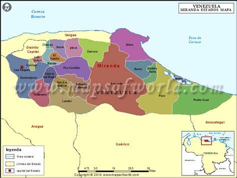 Mapa del Estado Miranda | Estado Miranda Venezuela
