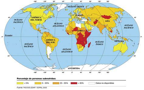MAPA DEL HAMBRE MUNDIAL CRISIS ALIMENTICIA EN EL MUNDO POBREZA