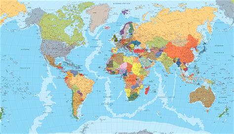 Mapa Del Mundo Con Ciudades