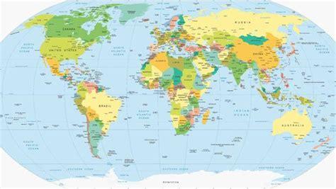Mapa del mundo con nombres de los continentes   Imagui