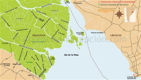 Mapa Delta del Paraná, Tigre, Buenos Aires, Argentina