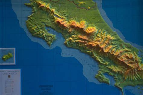 Mapa en relieve de Costa Rica | Libreria Francesa