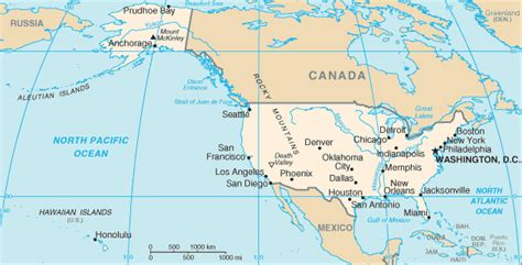 Mapa Estados Unidos (Mapa político)